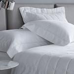 Kit Colcha Damask Stripes Hotel 300 Fios Branco